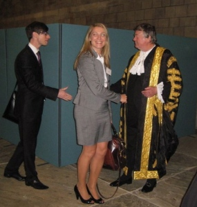 Opening the Legal Year with the Lord Chancellor, Ken Clarke (and JLD Chair Heidi Sandy)