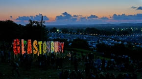A lawyer and a drug dealer are in a bar at the Glastonburyfestival…