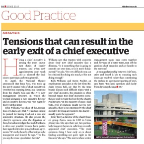 Third Sector: Tensions that can result in the early exit of a chief executive