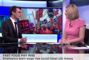 BBC World Business Report: New York's fast-food workers set for unprecedentedpay-rise