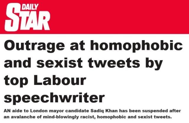 Ironic Daily Star Headline