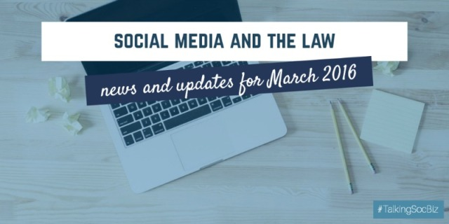 social media and the law - march