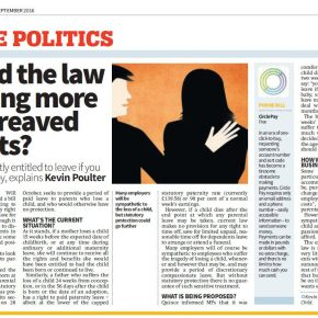 Office Politics: Should the law be doing more for bereavedparents?